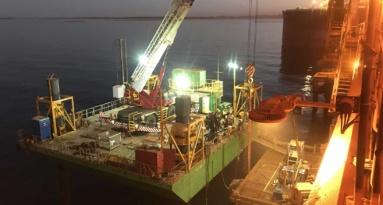 Sl5 Cape Lambert Dolphin Works At Night